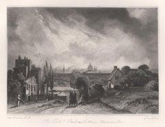 Sir Richard Steele's Cottage, Hampstead Rd Mezzotint after John Constable, 1855