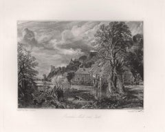 Arundel Mill and Castle. Mezzotint by David Lucas after John Constable, 1855