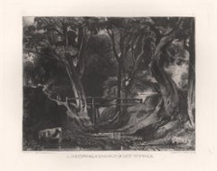 A Dell, Helmingham Park, Suffolk. Mezzotint by Lucas after John Constable, 1855
