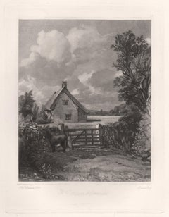 A Cottage in a Cornfield. Mezzotint by David Lucas after John Constable, 1855