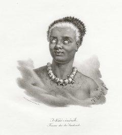 'T-Kaa-Onoroh, Femme des iles-Sandwich', Hawaii, antique lithograph print