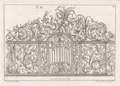 Rococo design for a gate, German mid 18th century etching
