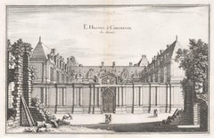 L'Hostel de Chevreuse, French town house in Paris, mid 17th century engraving