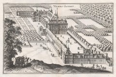 Viliers Costret, French chateau, architectural plan, mid 17th century engraving