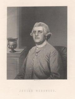 Josiah Wedgwood, potter, industrialist, portrait engraving, c1840