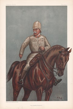 'the Cavalry Division', Vanity Fair military army horse chromolithograph, 1900