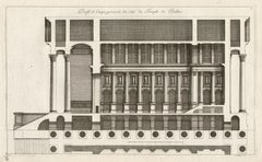 Temple of Baalbec, Lebanon, Classical Roman architectural engraving, Jean Marot