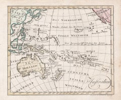 'Australien', antique map of Australia, New Zealand, Indonesia, SW Pacific, 1812