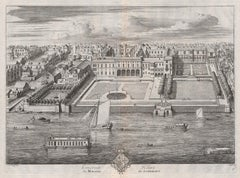 Somerset House, London, engraving, Johannes Kip after Leonard Knyff, 1708