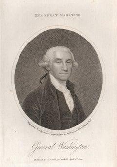 General Washington, Lafayette and John Adams, 3 US portrait engravings