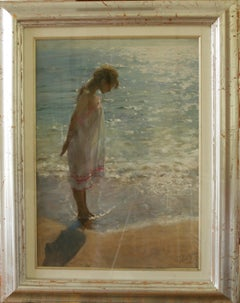 BY THE EDGE OF THE SEA...Vincente Romero Redondo ,contemporary Spanish artist.