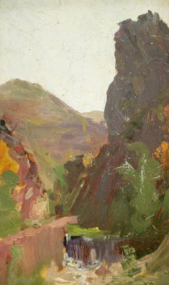 4 oil sketches that came directly from the artist studioJEAN FRANCK BAUDOIN