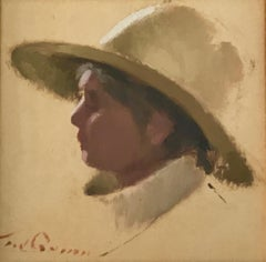 PROFILE OF THE ARTIST WIFE,T W QUINN 1919.2015,BRITISTH ARTIST