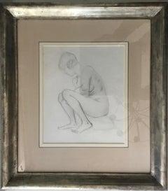 SEATED NUDE Augustus John British Edwardian Artist  1878–1961