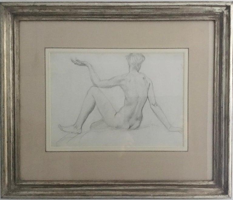 Augustus Edwin John OM RA Figurative Art - STUDY of a SEATED FEMAIL NUDE FROM BEHIND.Augustas Edwin John.OM RA British