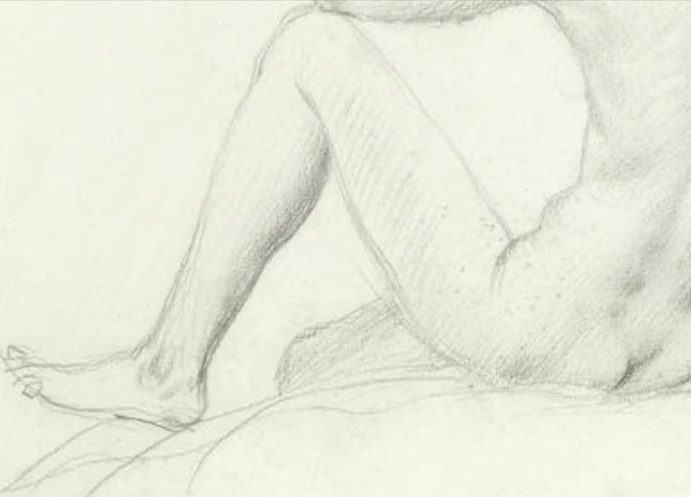 STUDY of a SEATED FEMAIL NUDE FROM BEHIND.Augustas Edwin John.OM RA British  - Post-Impressionist Art by Augustus Edwin John OM RA