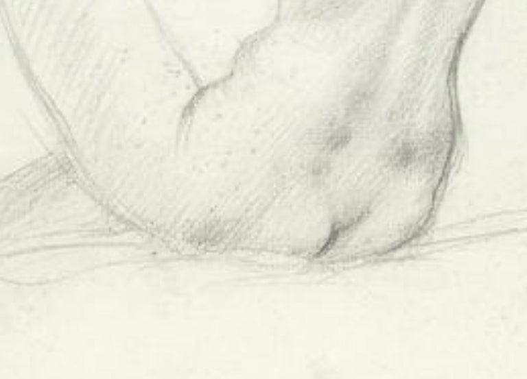 STUDY of a SEATED FEMAIL NUDE FROM BEHIND.Augustas Edwin John.OM RA British  For Sale 1