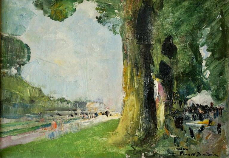Au Pied mon Arbre - Painting by Jean Frank Baudoin