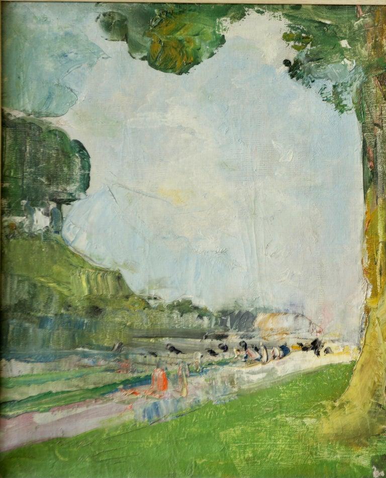 Au Pied mon Arbre - Post-Impressionist Painting by Jean Frank Baudoin
