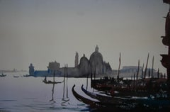 EARLY MORNING LIGHT VENICE. Roy Petley contemporary British Artist
