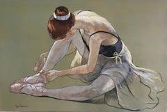 DANCER PREPARING FOR THE DANCE..KATIA GRINDNEVA  contemporary Ukrainian artist
