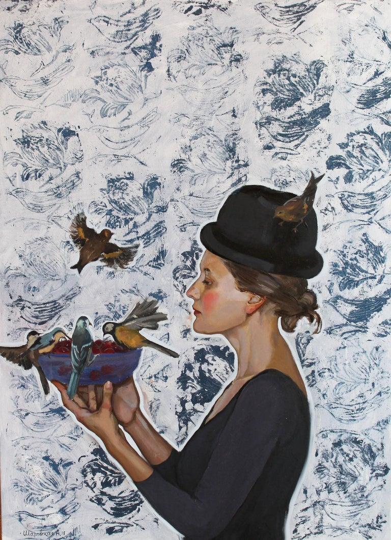 Alina Sharovskaya Figurative Painting - Fruit for Those Who Fly