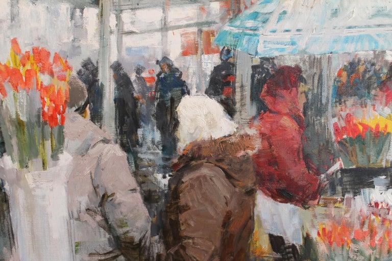Flower Sellers - Impressionist Painting by Vladimir Kovalov