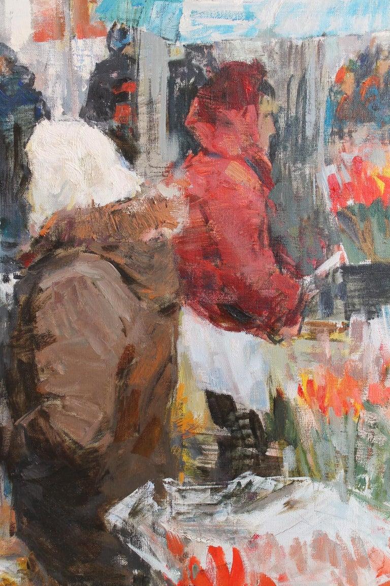Flower Sellers - Painting by Vladimir Kovalov