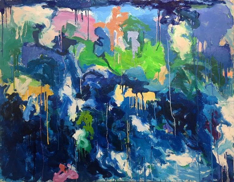 Judith Goldsmith Abstract Painting - Under Sea II