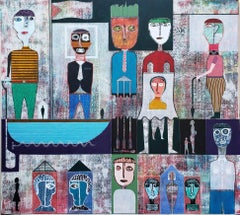 Cuban History - Mixed Media Painting of the Story of Cuba