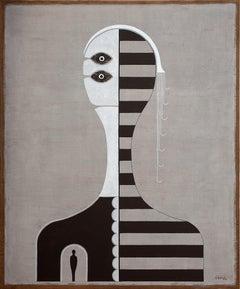Cuban Neutral Striped Portrait