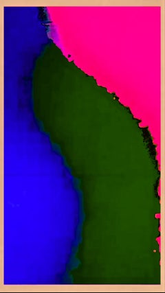 Abstract - Fluorescent Pure Pigment Print