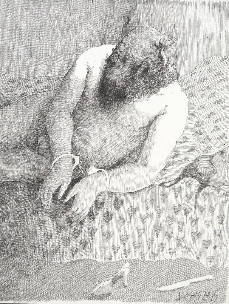 Jesus Nodarse Figurative Art - Love and the Minotaur