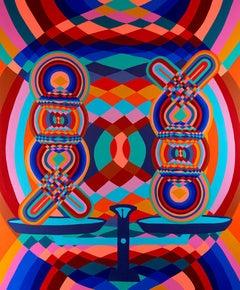 Balance, Abstract Acrylic on Canvas