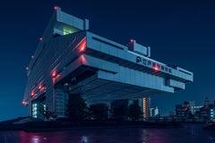 Edo Tokyo I - A Modern Architecture Noir Photograph of Japan
