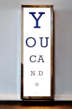 YOU CAN DO IT - WORD ART, MODERN ART, PERSPEX, SCULPTURE, LIGHT, CONTEMPORARY