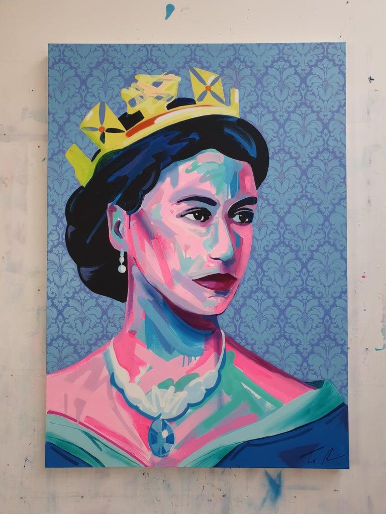 Queen Elizabeth Ii Acrylic Modern Art Contemporary Art Royalty Fashion