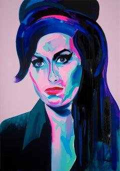 Tim Fowler Queen Elizabeth Ii Acrylic Modern Art