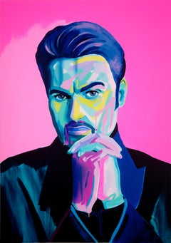 George Michael - Acrylic, Modern Art, Contemporary Art, Singer, Fashion, Icon