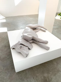 Object 'sleeping dog' by Servaas Roelandse, Neolith (marble with polyester)
