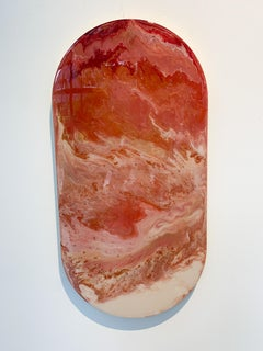 Object oval pil, epoxy by Corine van Voorbergen
