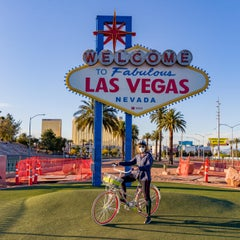 """Jean on Bike"", Covid-19, Las Vegas Photo Essay - Benefits America's Food Fund"