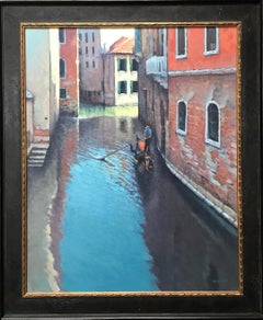 Reflections Of Venice, Contemporary Impressionistic Oil Painting on Canvas