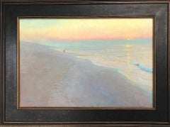 Mystical Morning, Contemporary Impressionistic Landscape Oil Painting on Canvas