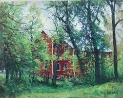 Impressionist Landscape Oil Painting by Michael Budden Springtime