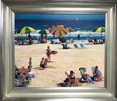 Ocean Beach Seascape Oil Painting Beach Composition by Michael Budden