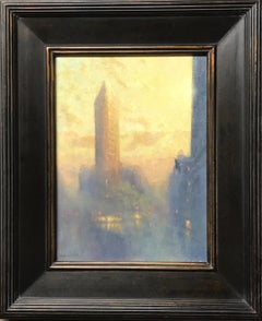 Sunrise Flatiron, Contemporary Oil Painting of New York City