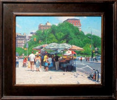 Summer, Union Sq and 14th Street, Contemporary Oil Painting of New York City