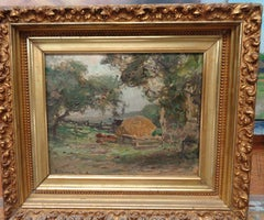 """Late October"" Franklin Dehaven, NA, oil painting, Salmagundi Club Artist"
