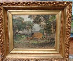 """Late October"" Franklin Dehaven, NA, oil painting, Salmagundi Club Artist"
